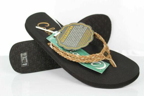 Cobian Women/'s Leucadia Flip Flop Sandals Size 9 Tan Black