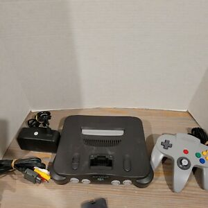 N64-Nintendo-64-Console-Tested-Works-with-Controller-amp-AC-NO-JUMPER-Expansion