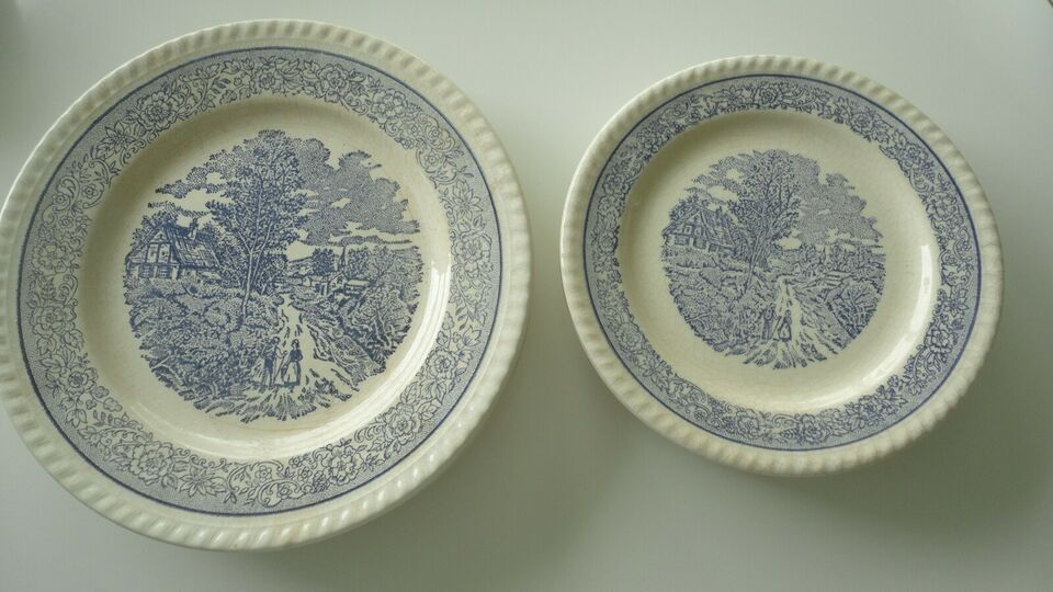 Porcelæn, vintage tallerkener, 2. verdenskrig
