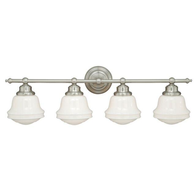 Home Garden Wall Fixtures 1 Light Belleville Vaxcel Satin Nickel Bathroom Vanity Lighting Fixture W0194 Stbalia Ac Id