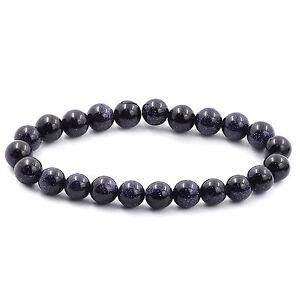 8MM-Natural-Blue-Sandstone-Beads-Gemstone-Yogo-Stretch-Bohemian-Bracelet-Fashion