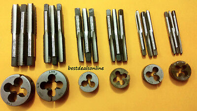 MODEL ENGINEERING TAP /& DIE SET 6 SIZES HIGH CARBON STEEL 3//16--3//8 32 /& 40 TPI