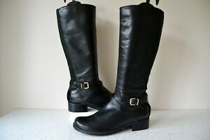 NEW-CLARKS-034-NESSA-CLARE-034-BLACK-LEATHER-KNEE-HIGH-FLEXI-CALF-BOOTS-UK-4E-RRP-110