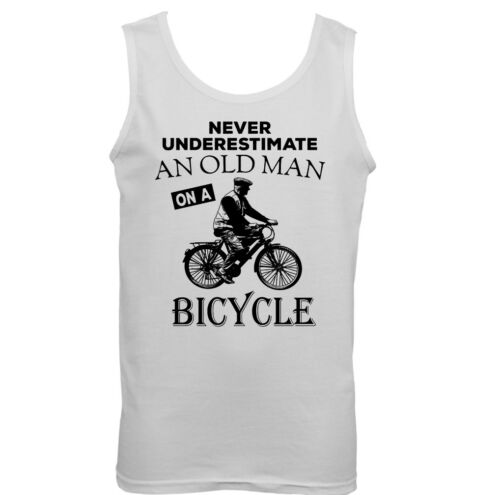 Nunca subestimes un viejo con Bici Bicicleta Ciclismo Chaleco Para Hombre Divertido