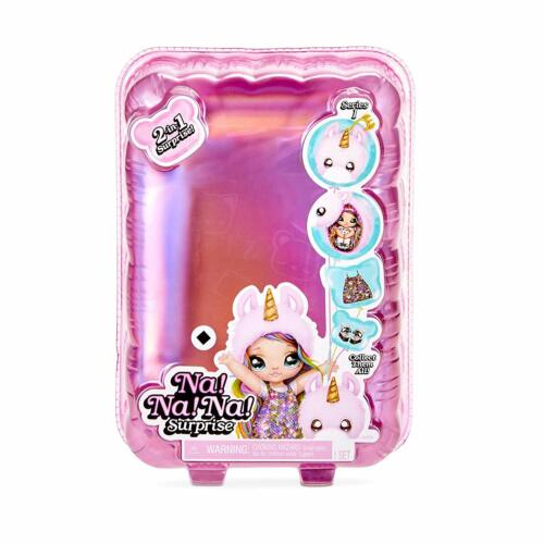Na Na Na Surprise 2-in-1 Fashion Doll /& Plush Pom with Confetti Balloon Unbox