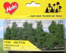 Heki 1724 H0 / TT / N, 4 Büsche, 5 cm, artline, Neu