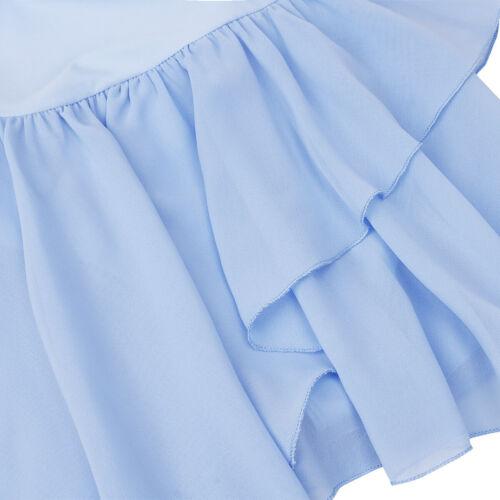 US Girl Kids Ballet Dance Dress Leotards Gymnastic Skirt Costume Skate Dancewear
