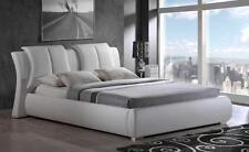ARTUR QUEEN SIZE 8269-W MODERN STYLE  LEATHER WHITE PLATFORM BED