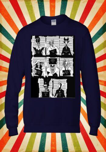 Disney Villains Mugshot Funny Cool Men Women Unisex Top Hoodie Sweatshirt 1995