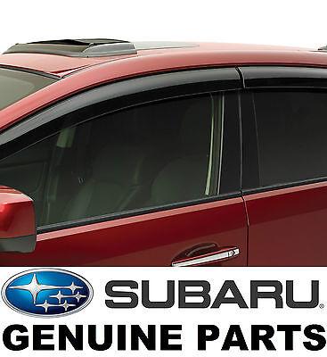 USED Subaru XV Crosstrek Side Window Deflectors VentVisors Rain GuardsE3610FJ660
