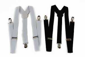 BLACK-WHITE-UNISEX-MENS-WOMENS-SUSPENDERS-BRACES-ADJUSTABLE-FORMAL-WEDDING