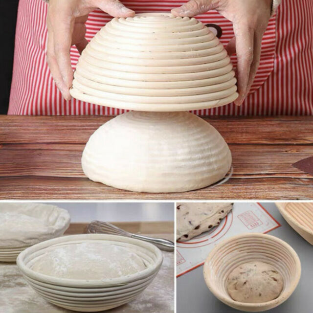 Round Banneton Dough Rising Rattan Bread Proofing Baskets for Home Baking T A#S