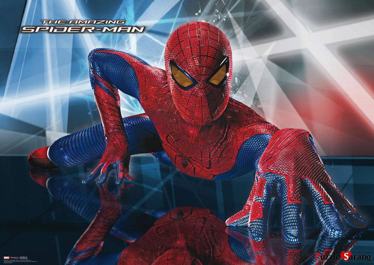 60 Pieces Jigsaw Puzzle Decoration_NV Marvel Floor Spiderman Bromide Home Decoration_NV Puzzle 79619a