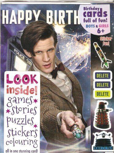 Doctor Who BIRTHDAY CARD Matt Smith with Tardis MULTI ACTIVITY