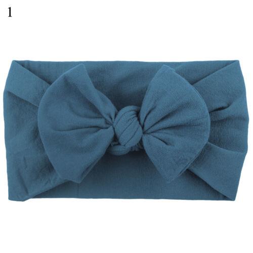 Newborn Baby Girls Soft Head Wrap Big Bowknot Turban Headband Hair Accessories❁