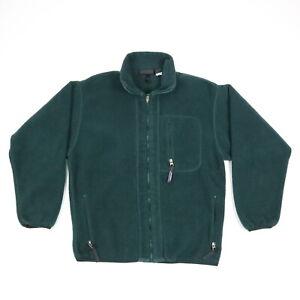 Vintage Patagonia Fleece Jacket Full Zip Evergreen USA Made Mens MEDIUM