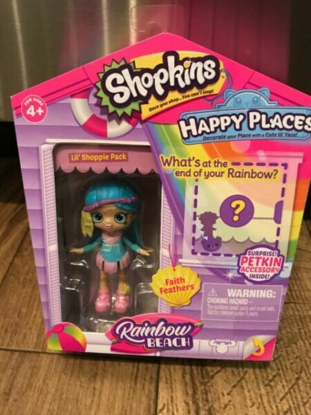 SHOPKINS HAPPY PLACES LIL/' SHOPPIE FAITH FEATHERS DOLL RAINBOW BEACH