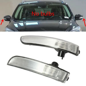 Fit FORD C-MAX Focus Ecosport Pair Side Door Rearview Mirror Turn Light Signal