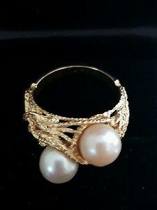 Ring Gold mit Perlen Damenring echt Gold 585 - Deutschland - Ring Gold mit Perlen Damenring echt Gold 585 - Deutschland
