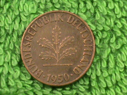 WEST GERMANY   1 Pfennig   1950 F   COMBINED SHIPPING