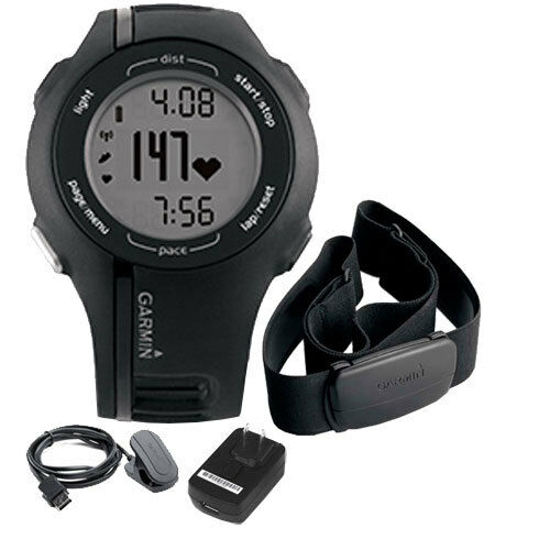New Garmin Forerunner 210 Waterproof GPS Heart Rate Monitor Sport Watch-Black