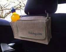 Ridebag Car Dog Tidy, (Bowl, Bags, Wipes, Drink) Jute Car Seat Bag Organiser