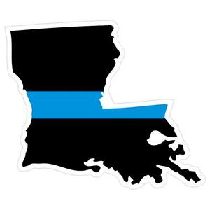 Louisiana-LA-State-Thin-Blue-Line-Police-Sticker-Decal-183-Made-in-U-S-A