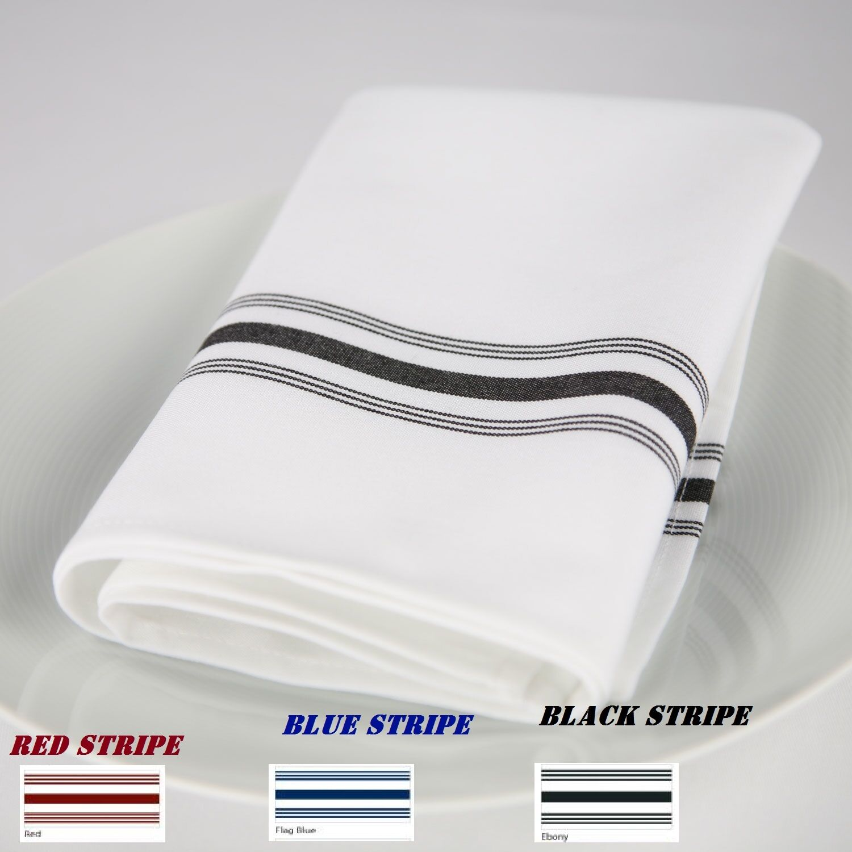 144 bistro stripe restaurant dinner cloth  napkins catering wedding event supply
