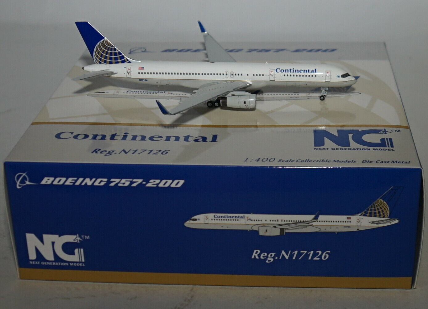 NG Model 53050 Boeing 757-224wl Continental Airlines N17126 in 1 400 Scale