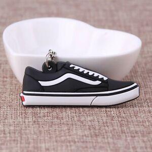 Details zu Vans Old Skool Schwarz Weiß Anhänger 38 39 40 41 42 43 44 45 45  skate sneaker 37