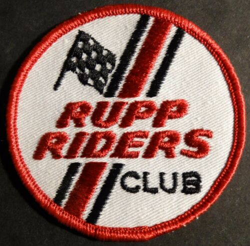 N.O.S. RUPP SNOWMOBILE PATCH ABOUT 3 INCH DIAMETER