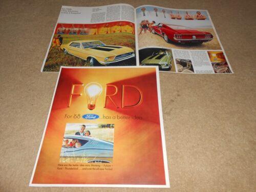 68 CATALOG BROCHURE 1968 FORD LTD MUSTANG TORINO T-BIRD FALCON Etc HUGE 12-p