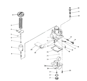 New Arrival & US Freeship】 Carburetor for Trail Boss 250 1987 ... polaris 250 trailblazer ignition wiring diagram eBay