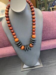 Vintage-Bohemian-Multi-Color-Wooden-Beaded-Boho-Statement-Necklace