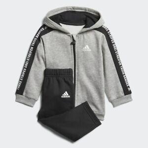 exprimir provocar fluctuar  Adidas Bebé Lineal con Capucha Chándal Polar Niños Infantil Corredor -  DJ1546   eBay
