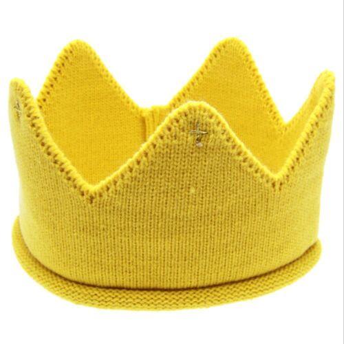 Boys Girls Cap Woolen Yarn Baby Hats Crown Knit Cap Headband Hair Accessories