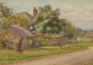 Walter-Bothams-1851-1920-Late-19th-Century-Watercolour-A-Rural-Idyll