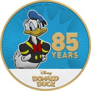 Niue-2019-2-Donald-Duck-85-Years-Gilded-1-Oz-Silbermuenze