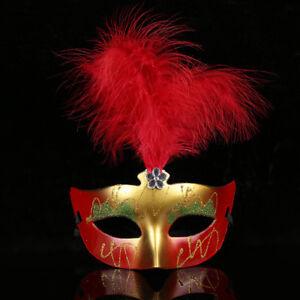 5Pcs-Kunststoff-Feder-Gesichtsmasken-Maske-Augenmaske-Kostuemfest-Masquerade