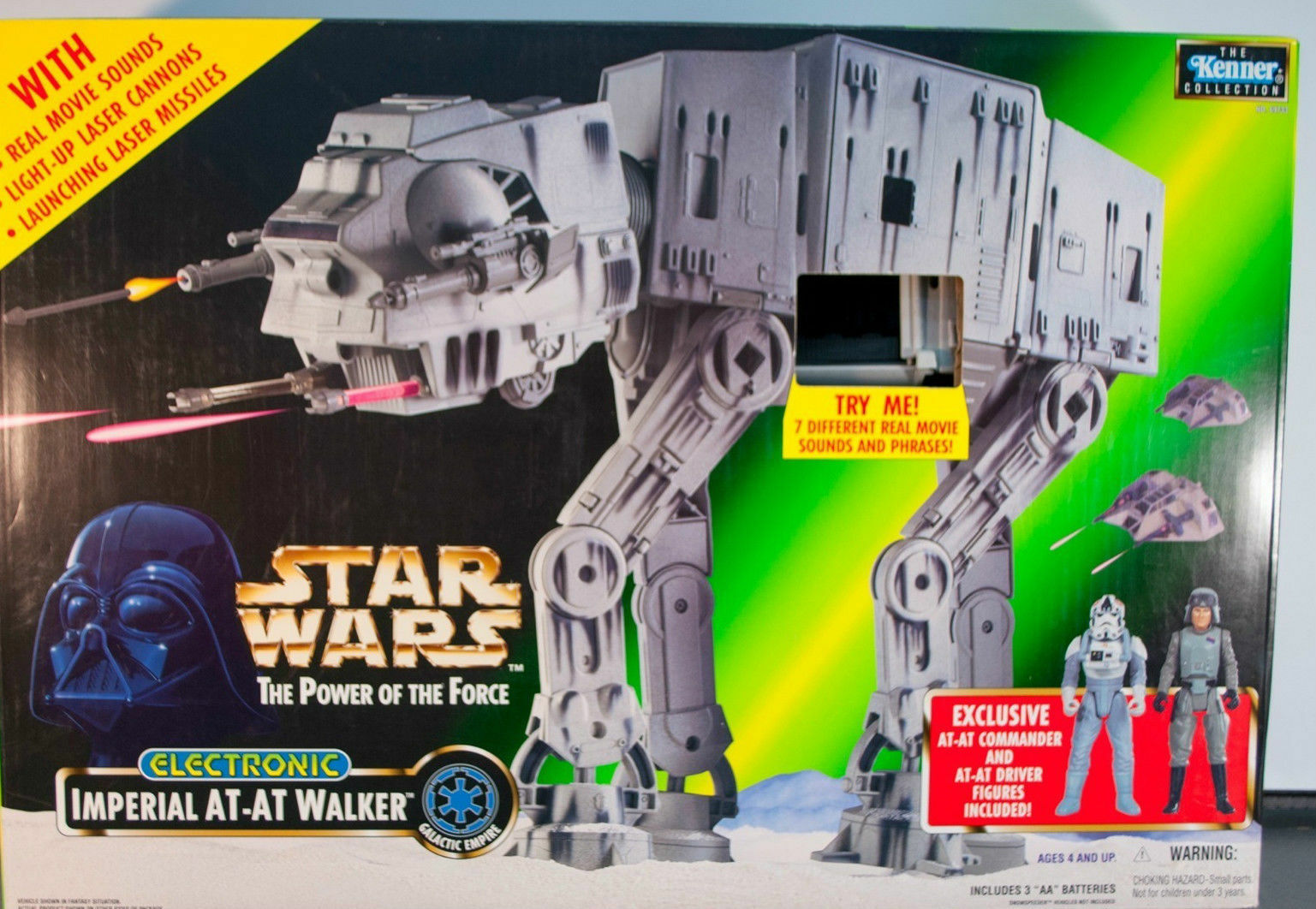 Star Wars Power of The Force Imperial AT-AT Walker 1997 New Sealed Box