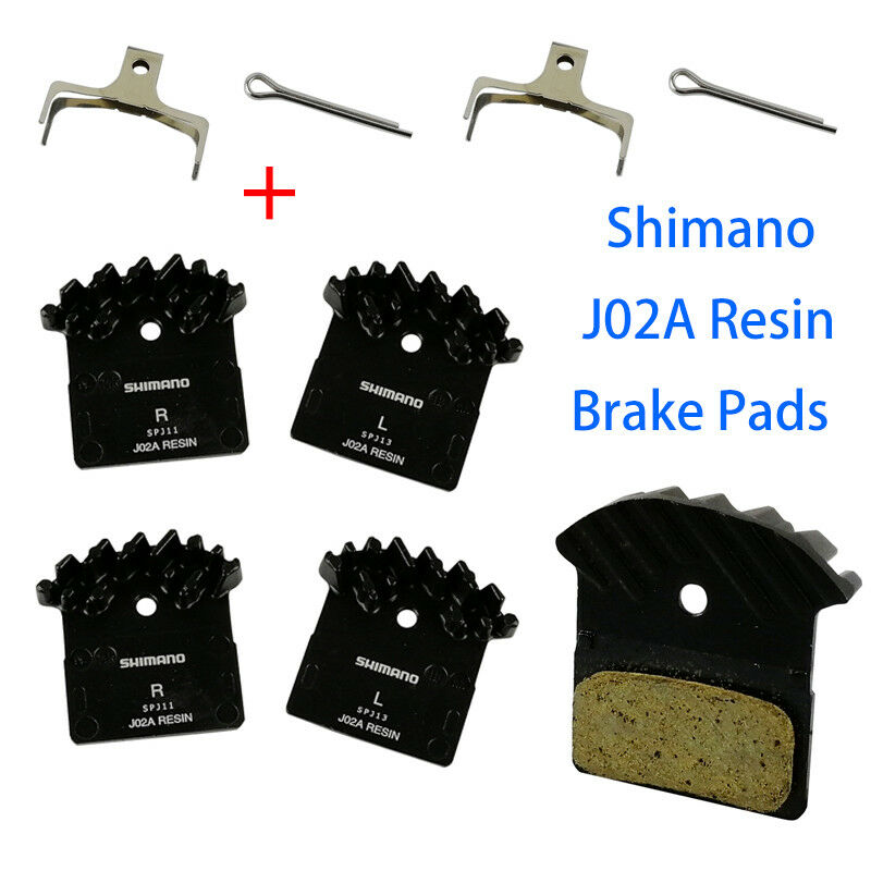 2Pair Shimano J02A Disc Brake Pad Resin Cooling Fin Ice Tech XT XTR SLX Deore