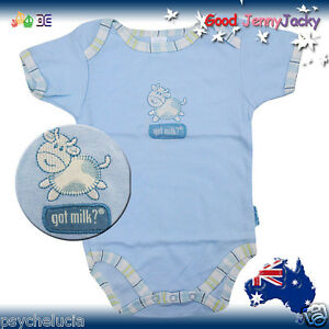 Got Milk Baby Boys Girls Cute Animal Cartoon Rompers One-piece Cotton New Born