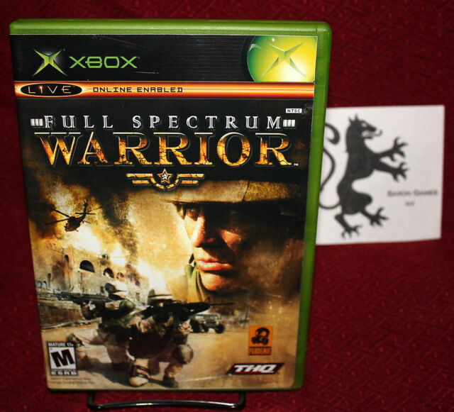 Full Spectrum Warrior Xbox COMPLETE CIB THQ Pandemic