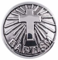 Silver Baptism Cross 20mm Snap Charm Interchangeable For Ginger Snaps Jewelry