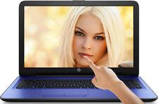 "HP 15.6"" TouchScreen Laptop 8GB 2.56GHz 1TB DVD+RW WebCam Bluetooth WIN10 Blue"