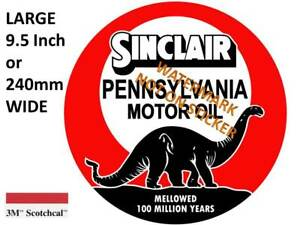 VINTAGE SINCLAIR PENNSYLVANIA OIL DECAL STICKER LABEL 9.5 INCH DIA 240 MM