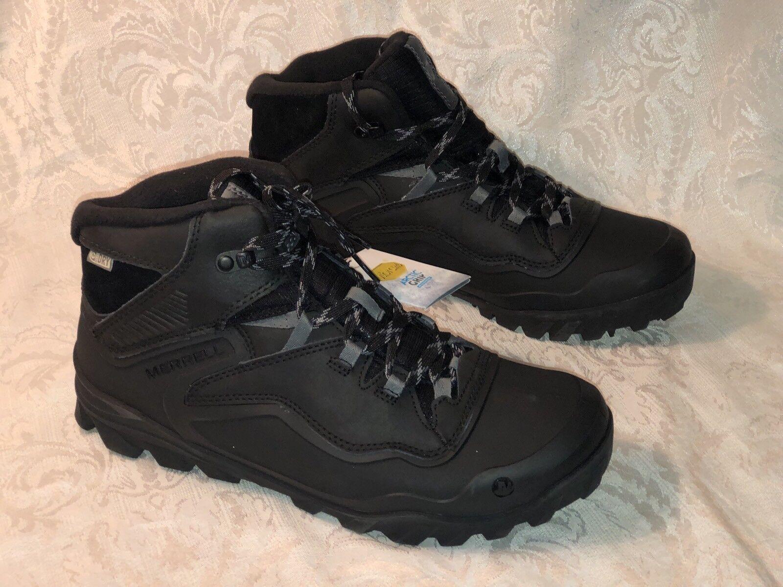 New Sz 9 Merrell Overlook 6 Ice+ Waterproof Winter Boots Black J37039 Men's