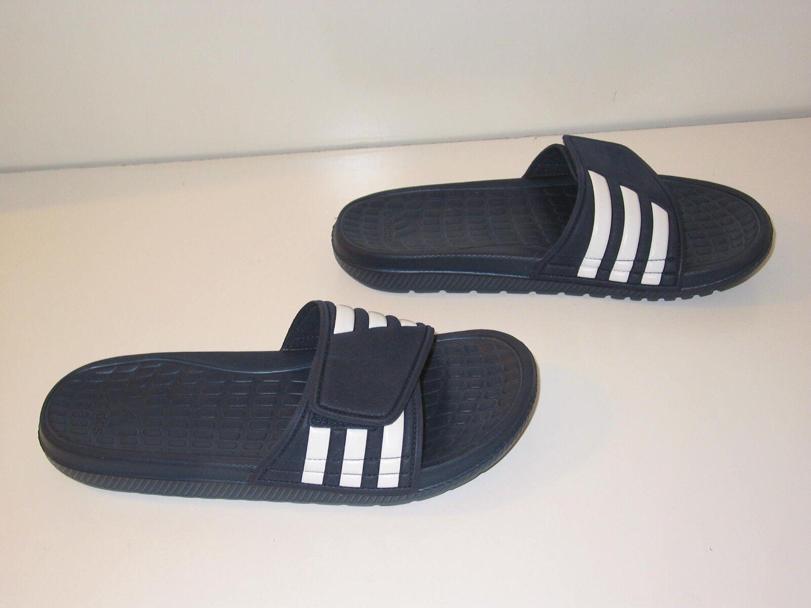 e239430cf2b6d adidas Alquo Team Custom Slides Sandals Flip Flops Navy   White ...