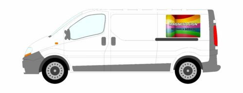 2 X FULL COLOUR PRINTED-MAGNETIC VEHICLE//VAN//CAR SIGNS FREE P/&PFREE DESIGN