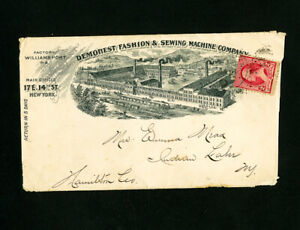 US Stamps Demorest Fashion Advertising Cover 1892 with 4 Inserts